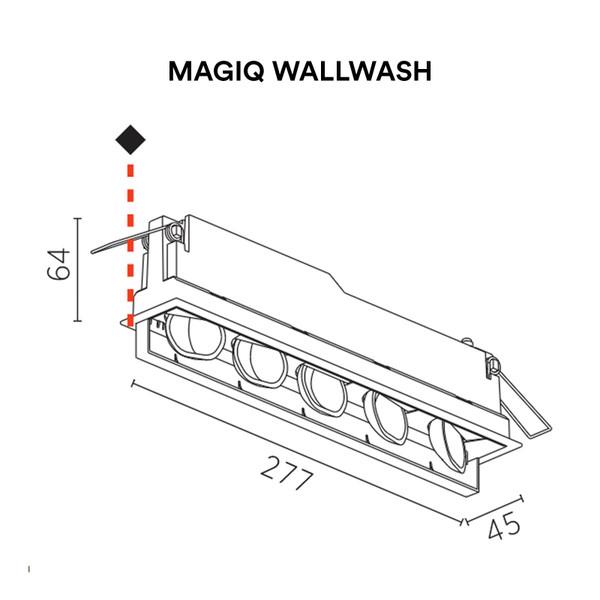 Prolicht, Indoor lighting, Light Project, Magiq Wallwash, Ceiling, Recessed, Trimless, Wallwash